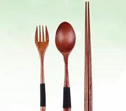 Wooden Spoon, Fork and Chopstick