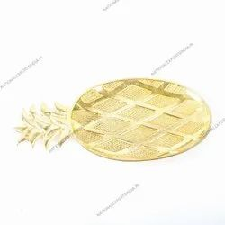 Pineapple Metal Serving Platters