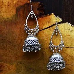 Joypur Sales Oxidised Fashion Jhumki Earring