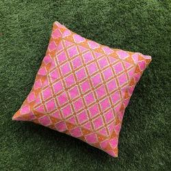 Bright Embroidered Cushion