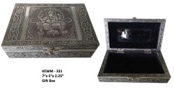 Metal Storage/Jewelry Box for Home, Size: 7 x 5 x 2.25 Inches