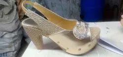 High Heel Gola Ladies Sandles, Size: 7