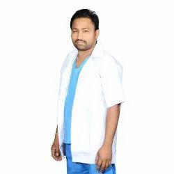 Cloth White Smart Care Apron Coat