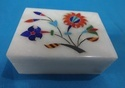 Rectangular Marble Inlay Box