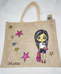 Hand Painted Personalized Jute Bag
