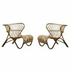 Universal Furniture Set of 2 Bamboo Cane Chair
