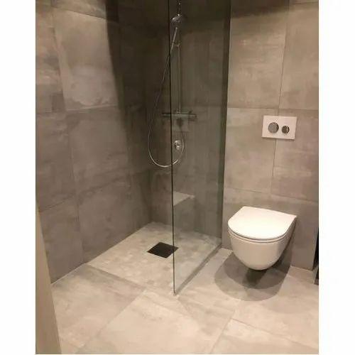 Plain Bathroom Glass Partition Rs 110 Square Feet Raha Living Id 20619479233