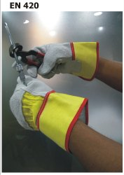 KAN/B/YR Canadian Leather Handling Gloves