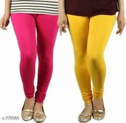 Straight Fit Plain Gm Leggings For Ladies
