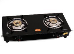 Sam Gas Saving Glass Top 2 Burners Large Size Gas Stove-Manual