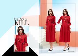 Shubh NX Glamour Series 9001-9009 Stylish Party Wear Rayon Kurti