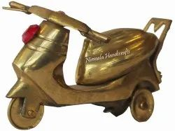 Nirmala Handicrafts Brass Scooter Antique Gold Finish Home/Table Decor And Gift Item