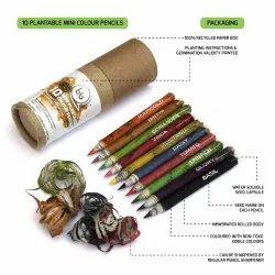 bioQ Plantable Seed Mini Colouring Pencil Box (10 half sized paper pencils)