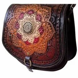 HCSB-01 Hand Curving Leather Woman Shoulder Purse