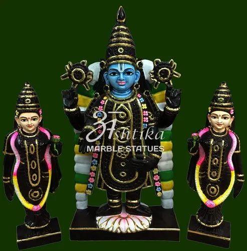 Tirupati Balaji Marble Statue