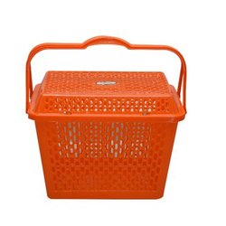 Orange Rajini Plastic Basket