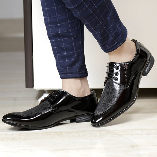 Shoe Sense Leather Men S Formal Black Shiny Formal Lace Up Shoes Size 6 10 Rs 220 Pair Id 22387309888