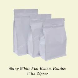 Flat Bottom Pouch Normal Zipper with 45 Degrees