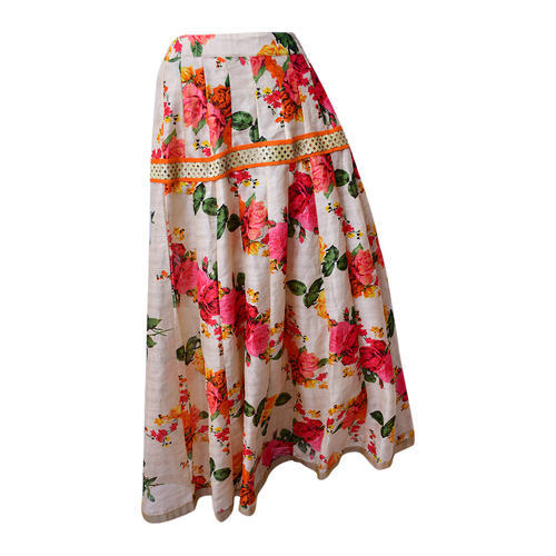 da3477403b Floral Silk Skirt at Rs 1200 /piece | Govindpuri | Delhi | ID ...