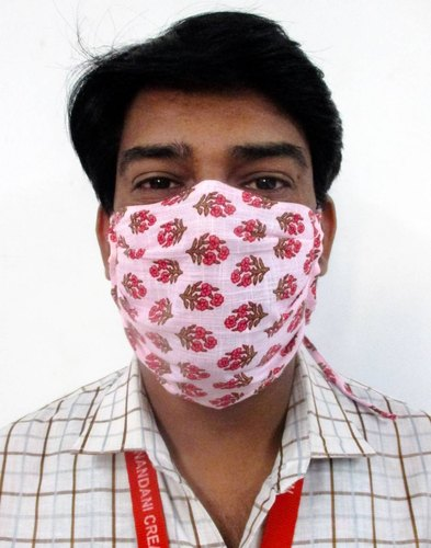 Jaipur Kurti Cotton Multiple Prints Washable Single Layered Masks (Pack Of 30 pcs)