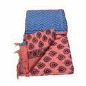 Ladies Unstitched Chanderi Katan Printed Suit
