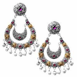 Fancy Stylish Silver Earrings