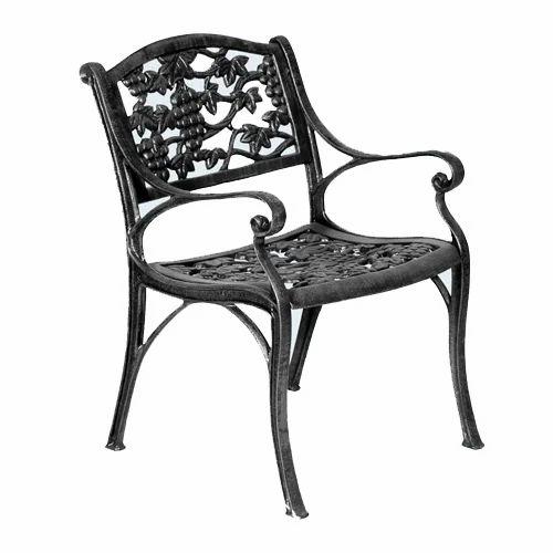 Dwarka Metal Cast Iron Garden Chair