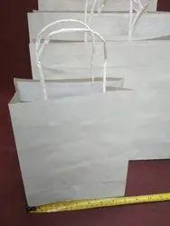 White Kraft Paper Bags stock, for Shopping, Capacity: 2kg