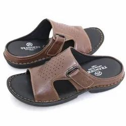 Daily Wear Mens Dark Brown PVC Slipper, Size: 6-1