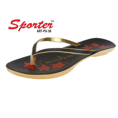 e1ff7615bcbda Women Sporter PU-28 Black Fashion Slippers, Size: 4-8, Rs 57 /pair ...