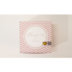 Peach Colour Pattern Designer Cake Box