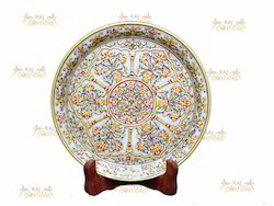 Goldish Marble Plates