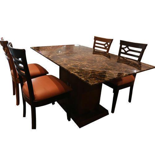 Wooden Rectangle 4 Seater Dining Table 8da43e401