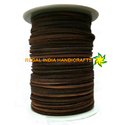 Light  Brown Flat Square Leather Laces- 3mm By 3mm LEATHER CORD