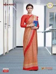 Girls School Uniform Saree