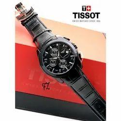 Men Round Tissot Swiss Watch, For Formal