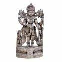 Silver Wooden Perumal Statue