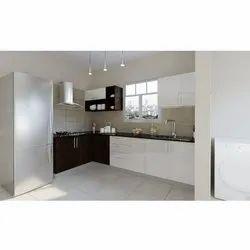 L Shape PVC Modular Kitchen, Warranty: 5 years