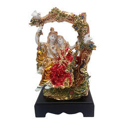 Gold Plated Lord Radha Krishna Statue Corporate Gift Item