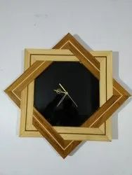 Antiqued Wooden Wall Clock