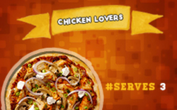 Chicken Lovers Large Pizza