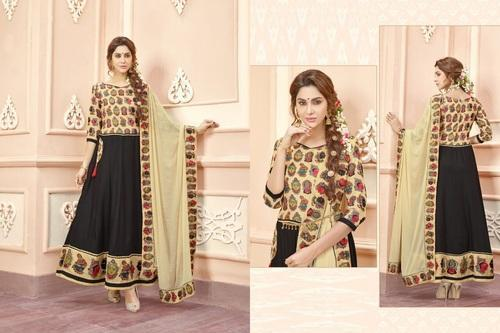 92c609c94a Black & Cream Party Wear Beautiful, Rs 1070 /piece, Krivi Designer ...