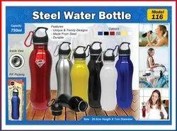 Inspiring Color Coated Carabiner Stainless Steel Water Bottle, Capacity: 750 Ml
