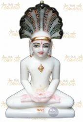 Marble Mahavir Swami Murti
