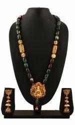 SPJ038 Gemstones Combined Antique Finish Golden Temple Pendant