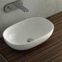Ceramic Oval Table Top Wash Basin, For Bathroom