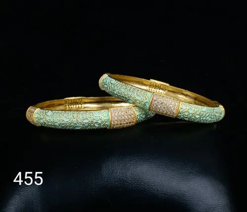 Nikita Plus Brass Traditional Bangles Jewelry For Festivals Rs