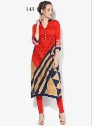 Best Beautiful Crepe Kurti
