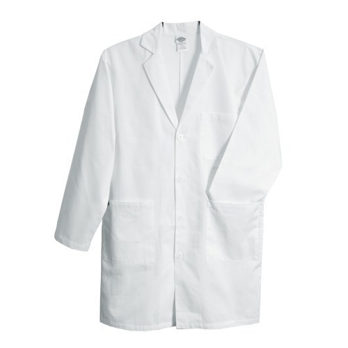 White Collar Medical Apron for Hospital