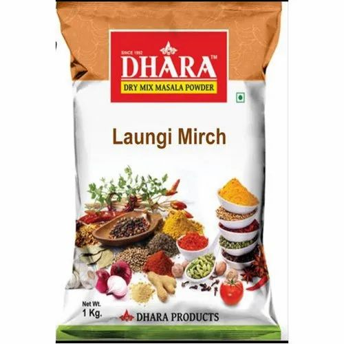 2 Months Dhara Laungi Mirch Powder, Packaging Size: 1 Kg